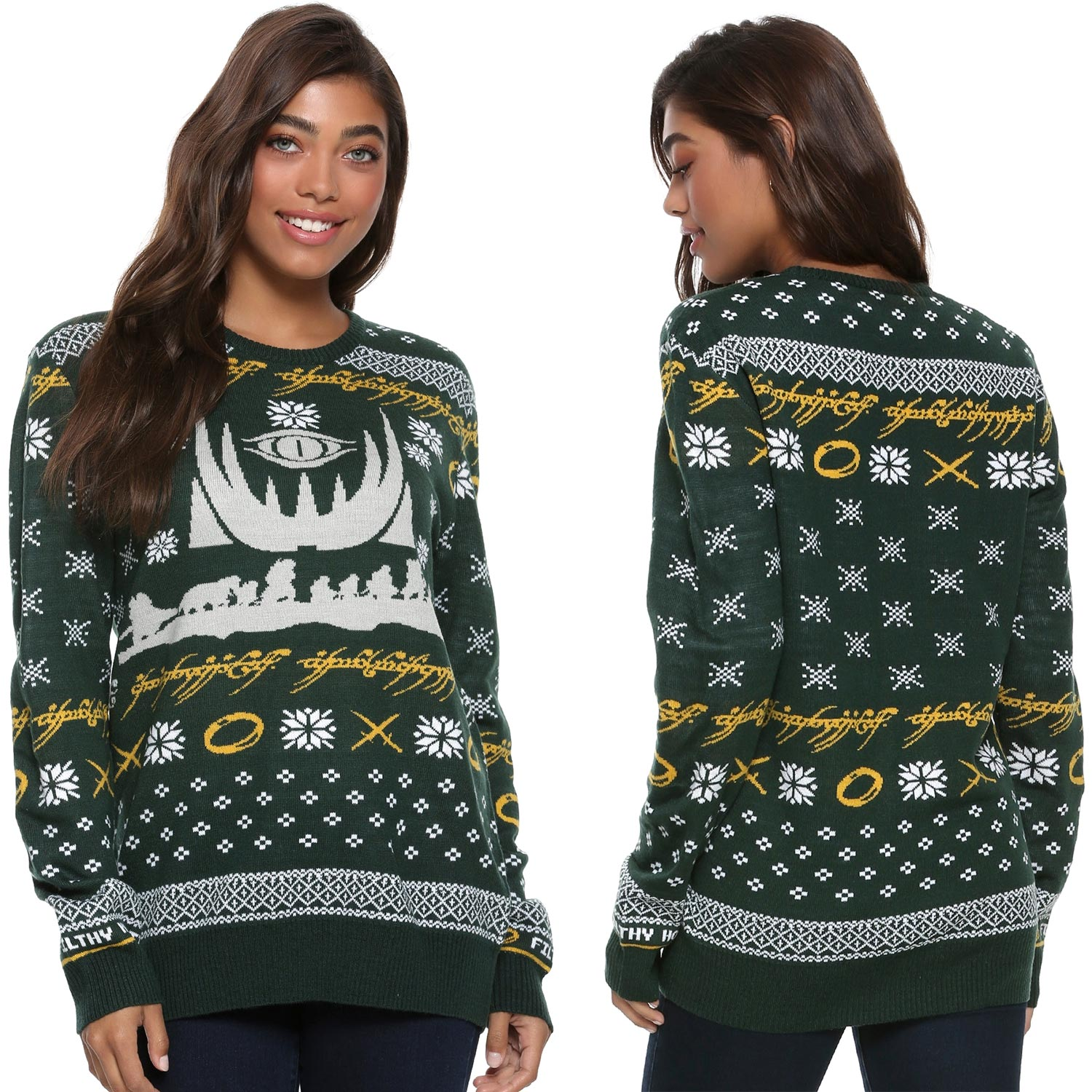 Lord Of The Rings Christmas Jumper.The Lord Of The Rings Christmas Sweater
