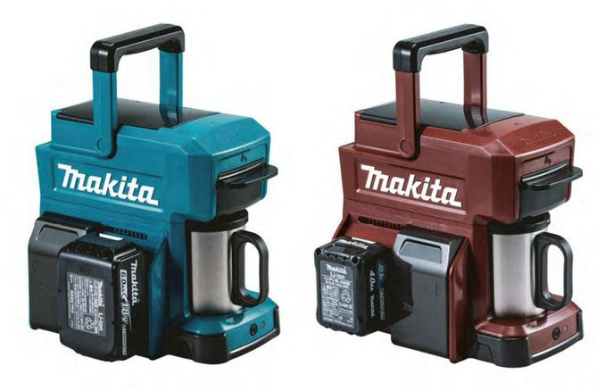 The Makita Power Tool Battery Coffee Maker