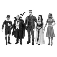 The Munsters Black and White Action Figure Set