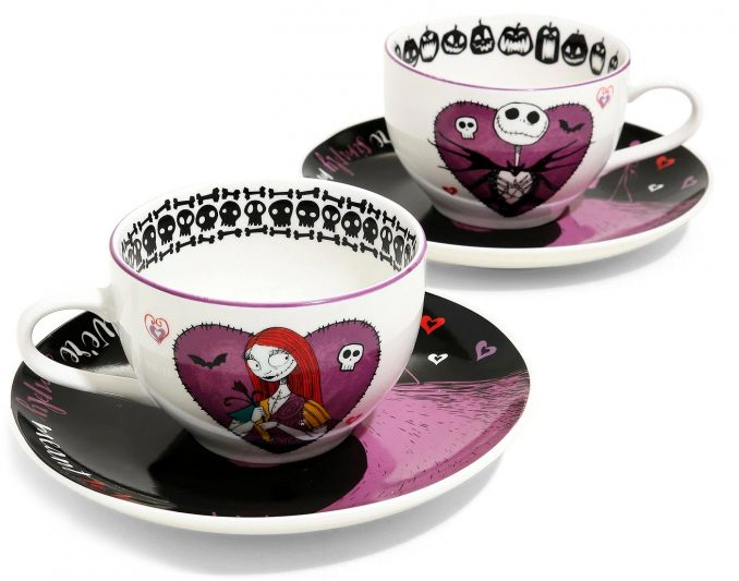 The Nightmare Before Christmas Jack & Sally Teacup Set