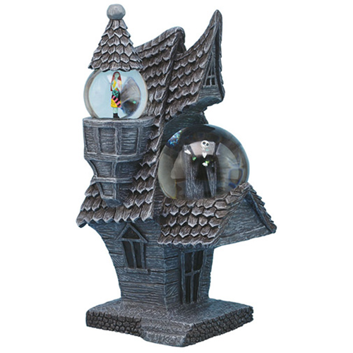 The Nightmare Before Christmas Jack And Sally House Snow Globe