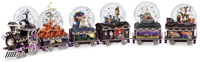 The Nightmare Before Christmas Musical Glitter Globe Train