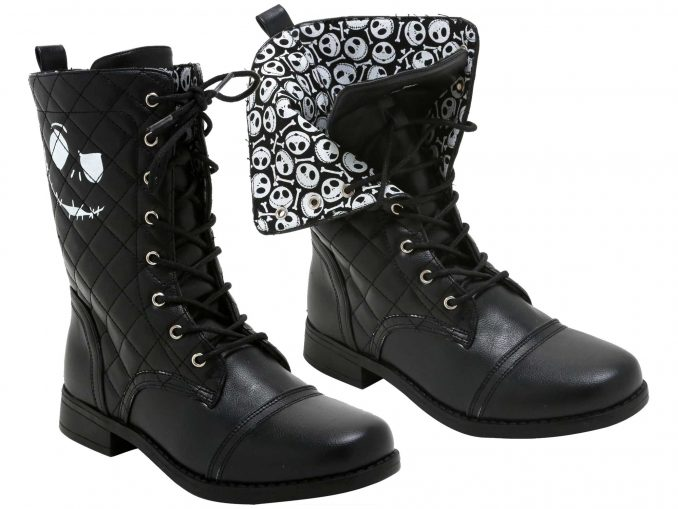 The Nightmare Before Christmas Quilted Jack Combat Boots