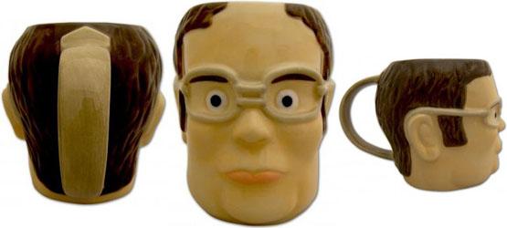 The Office Dwight Schrute Head-Shaped Mug