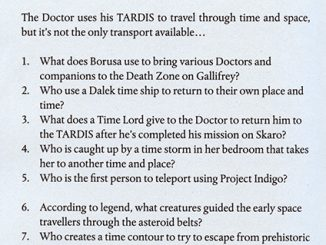 The Official Doctor Who Quiz Book