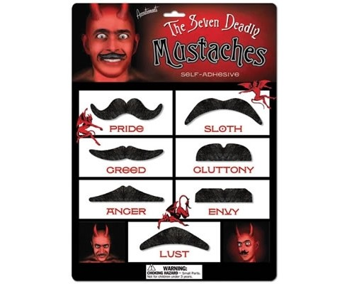 The Seven Deadly Mustaches Costume Set