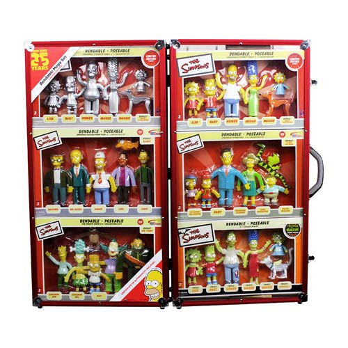 The Simpsons 25th Anniversary Bendable Figures Mega Set