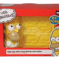 The Simpsons Egg Cup With Toast Stamp And Cutter1