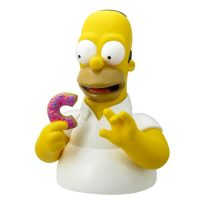 The Simpsons Homer Simpson with Donut Bust Bank