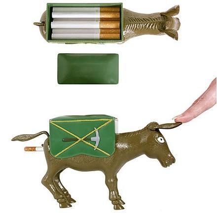 The Smoking Donkey Cigarette Dispenser