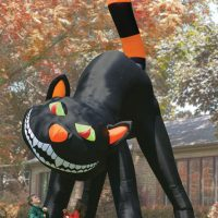 The Two Story Inflatable Black Cat