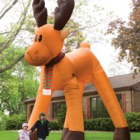 The Two Story Inflatable Reindeer