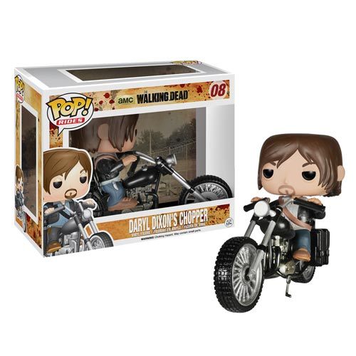 Walking Dead Daryl Dixon With Chopper Pop Vinyl Vehicle