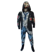 The Walking Dead Gruesome Zombie Unisex Footed Pajamas