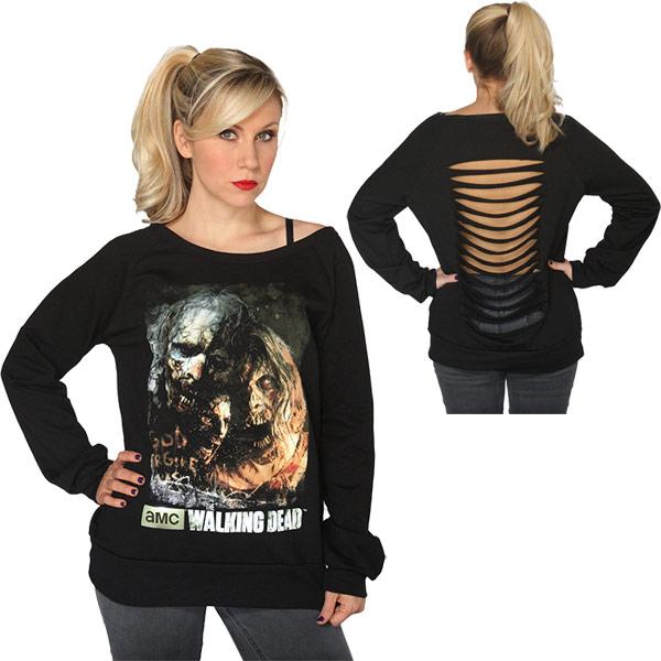The Walking Dead Zombie Poster Sweatshirt