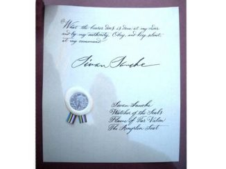 The Wheel of Time Silver Tar Valon Mark on Document