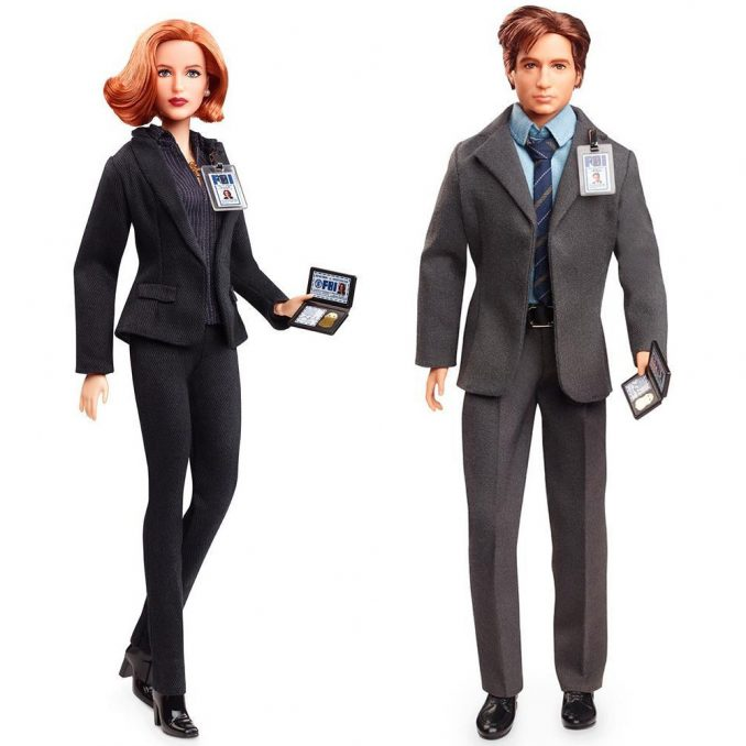 The X Files Mulder and Scully Barbie Dolls