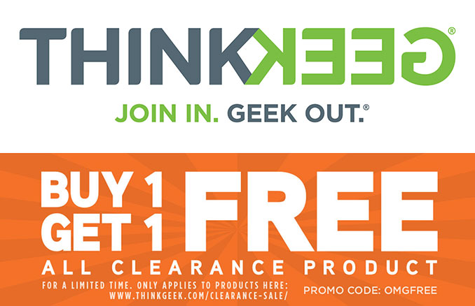 ThinkGeek Buy 1 Get 1 Free On Clearance Products