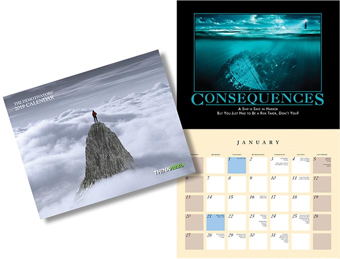 ThinkGeek Despair 2019 Wall Calendar