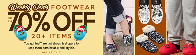ThinkGeek Footwear Sale