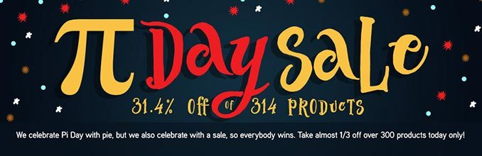 ThinkGeek Pi Day Sale