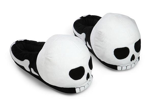 ThinkGeek Plush Skull Slippers