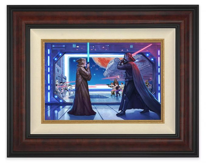 "Thomas Kinkade ""Obi-Wan's Final Battle"" Framed Canvas"