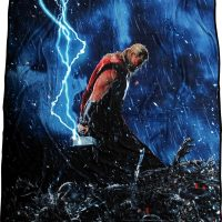 Thor Age of Ultron Lightning Hamer Fleece Blanket