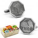 Thor Comic Logo Silver Cufflinks