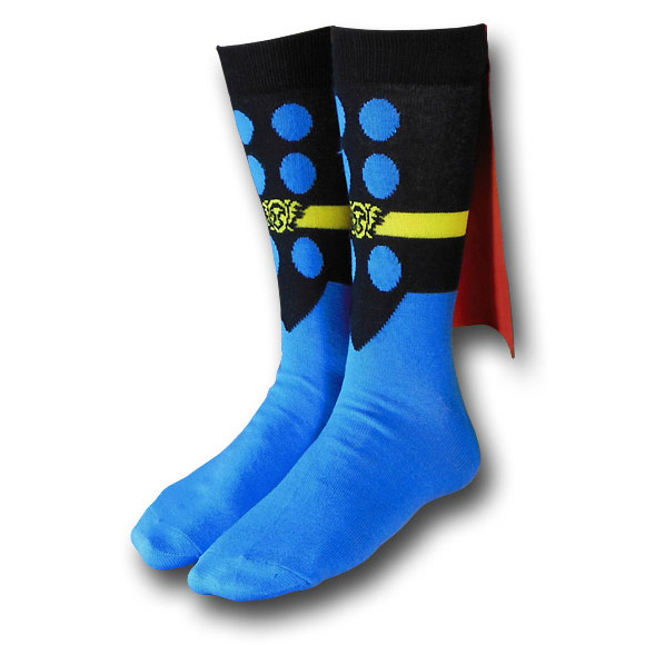 Thor Crew Socks With Capes