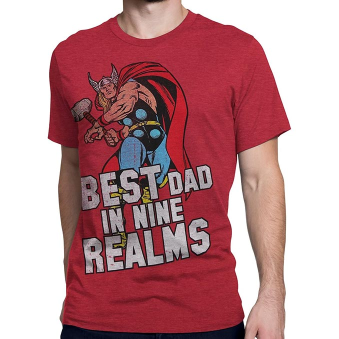 56e483cd New Marvel Superhero Father's Day T-Shirts