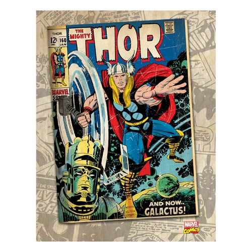 Thor Galactus Marvel Comic Book Cover Stretched Canvas Print