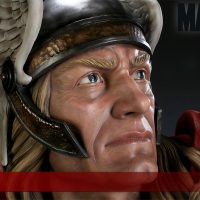 Thor Life Size Bust Face Detail