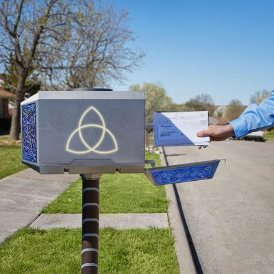 Thor Mighty Mjolnir Mailbox