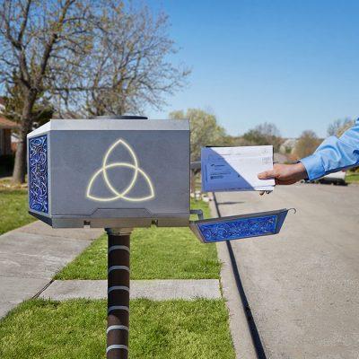 Thor Mighty Mjolnir Mailbox