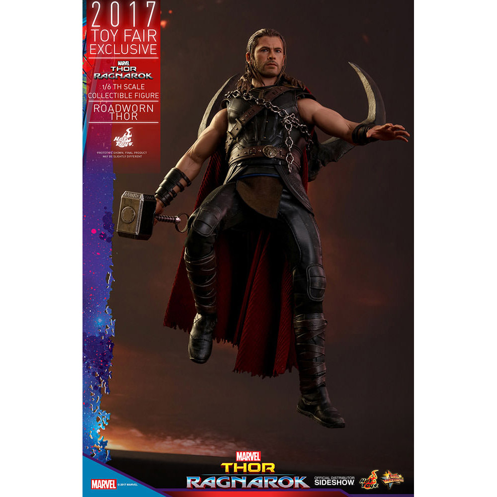 Thor Ragnarok Roadworn Thor Sixth Scale Figure