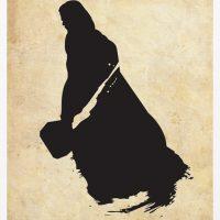 Thor Superhero Silhouette Poster