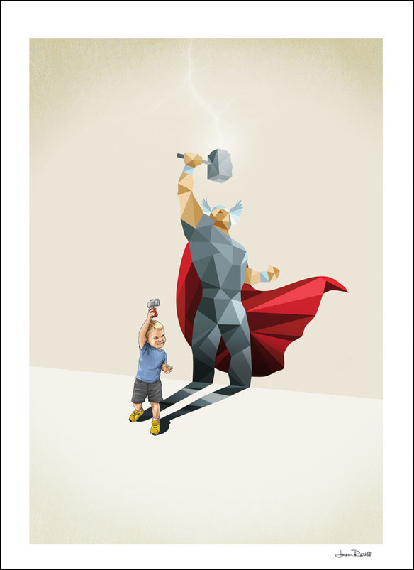 Thor The Power of the Hammer Art Print