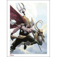 Thor versus Loki Art Print