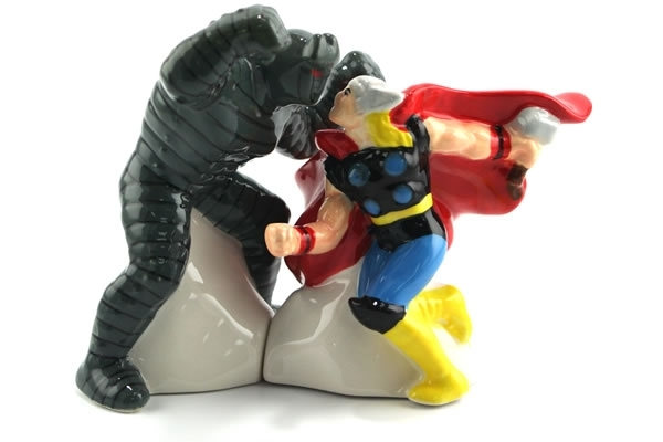 Thor vs. Destroyer Salt & Pepper Shakers