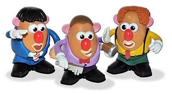Three Stooges Mr Potato Head Boxed Set