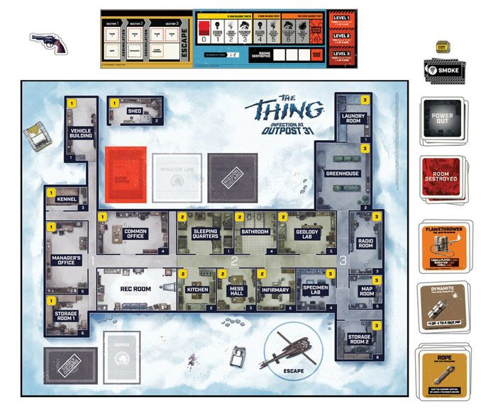 Thrilling The Thing Infection at Outpost 31 Board Game