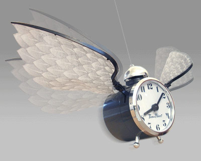 Time Flies Flying Novelty Clock