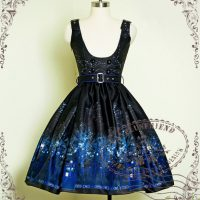 Time Lord Cyber Gothic TARDIS Underbust Dress