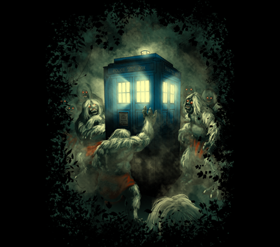 Time Machine Doctor Who Knock Knock Whos There Shirt