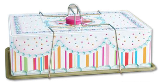 Tin Cupcake and Sheet Cake Carrier