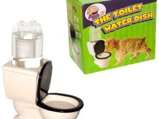 Toilet Dog Water Bowl