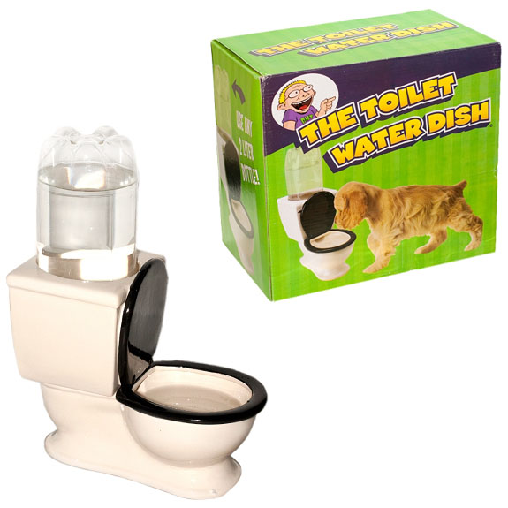Toilet Dog Water Bowl