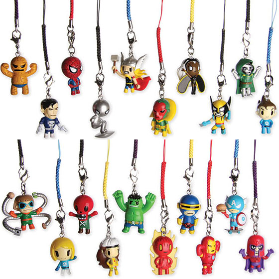Tokidoki Marvel Keychain Superhero and Super Villain Collectibles