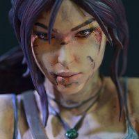 Tomb Raider Lara Croft Statue